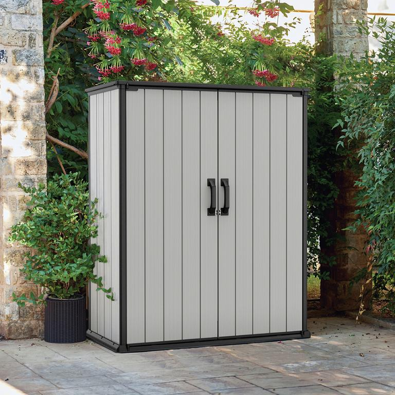 Secure outdoor storage.
