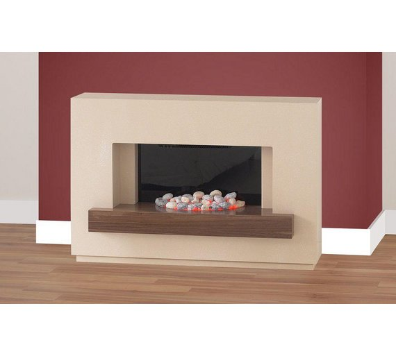Buy Adam Sambro 2kw Electric Fireplace Suite Stone Walnut At Your Online Shop