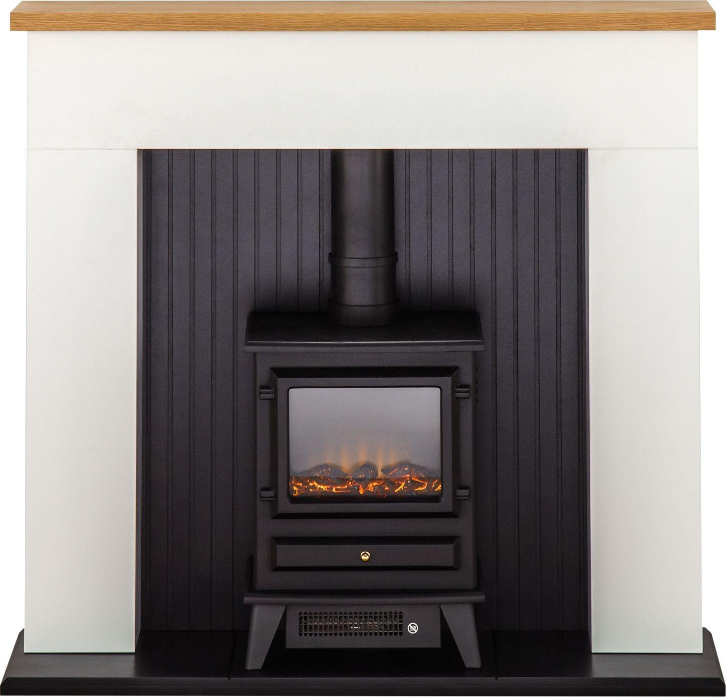 Image of Adam - Innsbruck 2kW - Electric Stove Suite - White & Black
