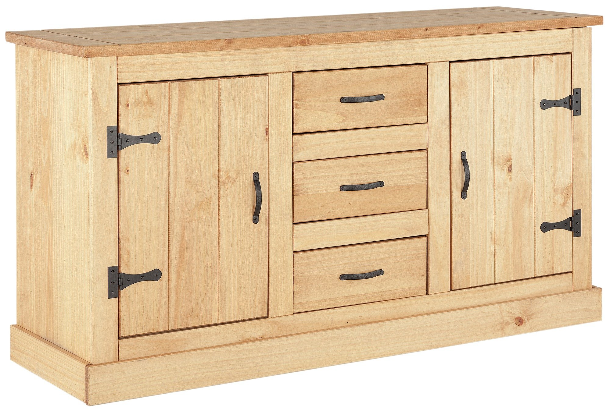 'Home San Diego 2 Door 3 Drawer Solid Pine Sideboard