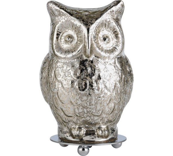 Buy heart of house silva glass owl table lamp silver at argos heart of house silva glass owl table lamp silver mozeypictures Choice Image
