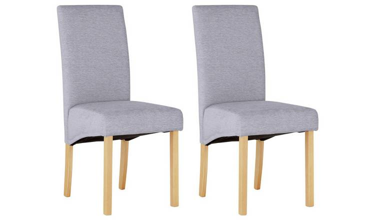Brilliant Buy Argos Home Pair Of Fabric Skirted Dining Chairs Pale Grey Dining Chairs Argos Ibusinesslaw Wood Chair Design Ideas Ibusinesslaworg
