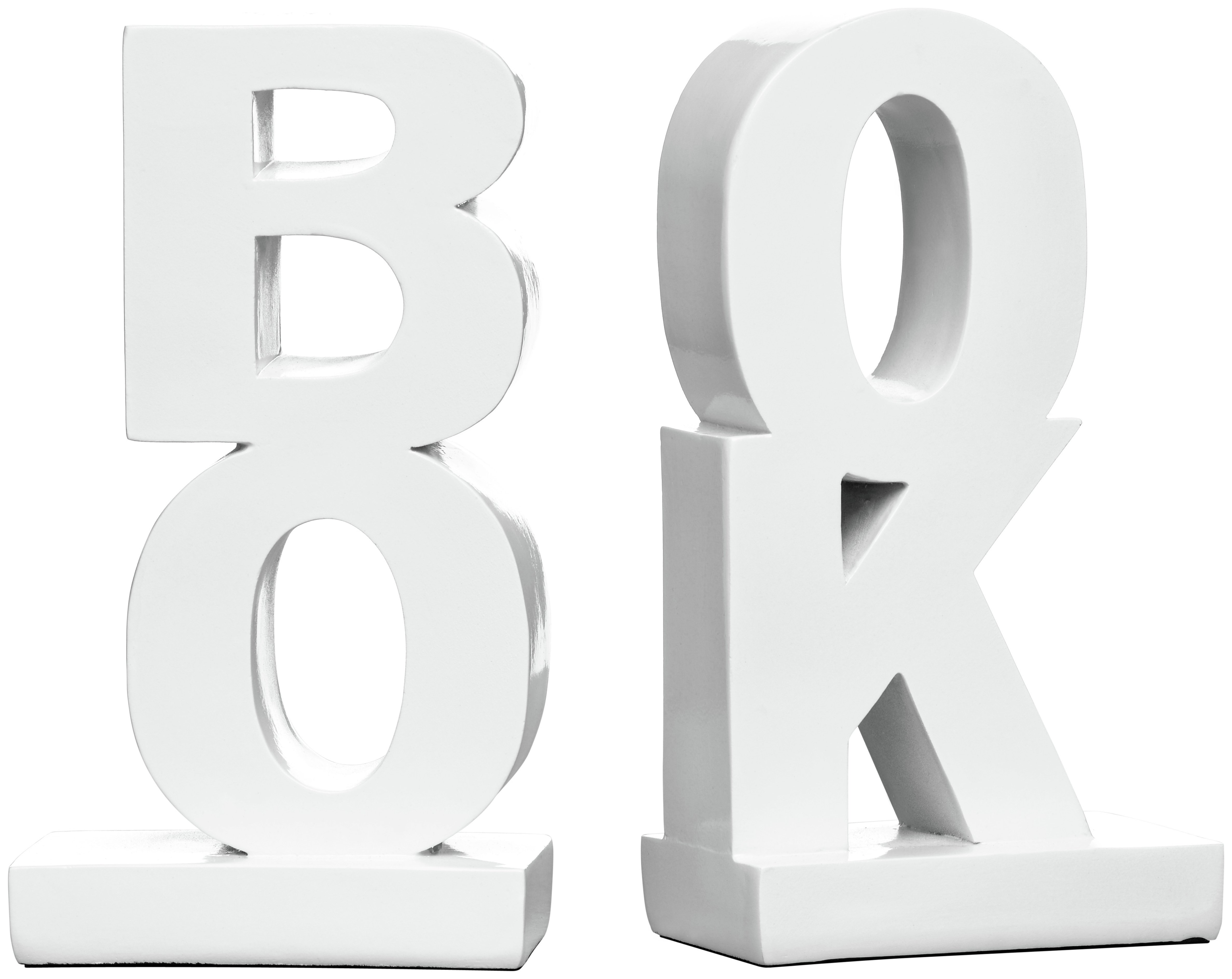 Premier Housewares High Gloss White Polyresin Bookends. lowest price