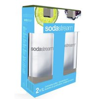 SodaStream - 1 Litre Grey Bottles - Twin Pack