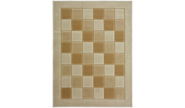 Verona Blocks Rug - 120x170cm - Natural.