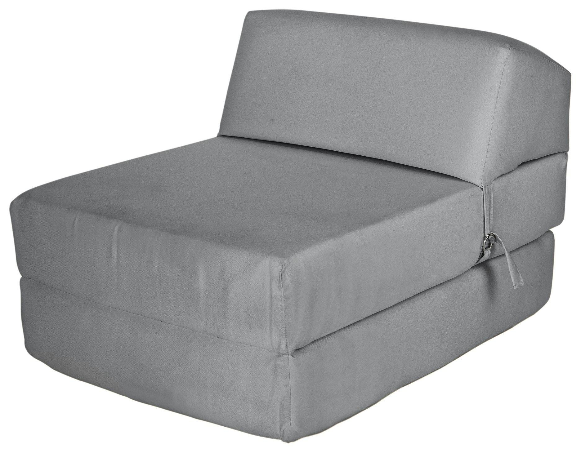 Argos Home Single Cotton Chairbed - Flint Grey