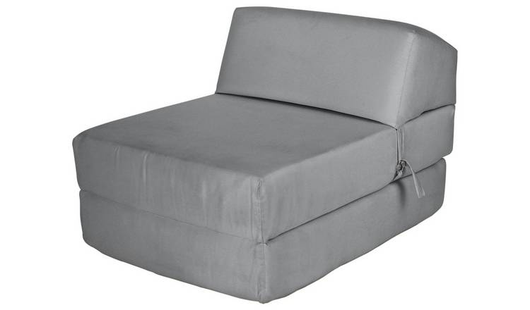 Buy Argos Home Single Cotton Chairbed - Flint Grey | Sofa beds | Argos