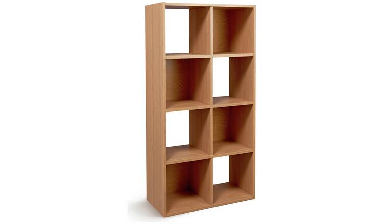Argos Home Squares 8 Cube Storage Unit - Oak Effect