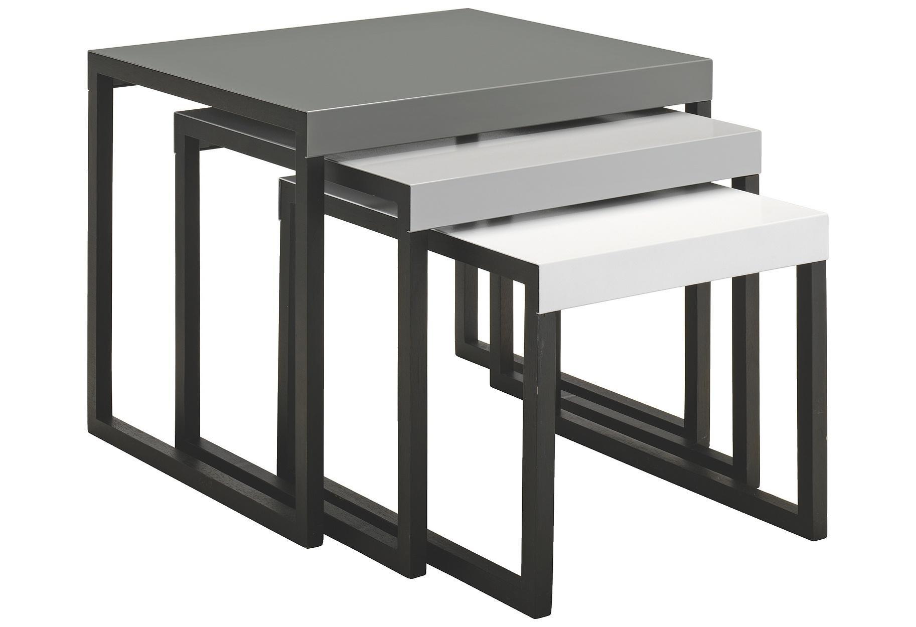 Habitat Kilo Metal Nest of Tables Grey