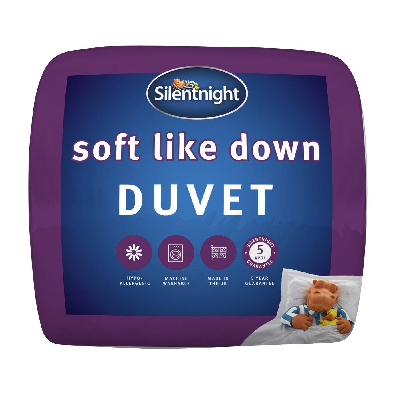 silentnight  soft like down 135 tog  duvet  single