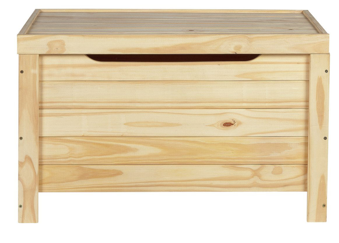 Home Wooden Storage Box Unfinished Pine