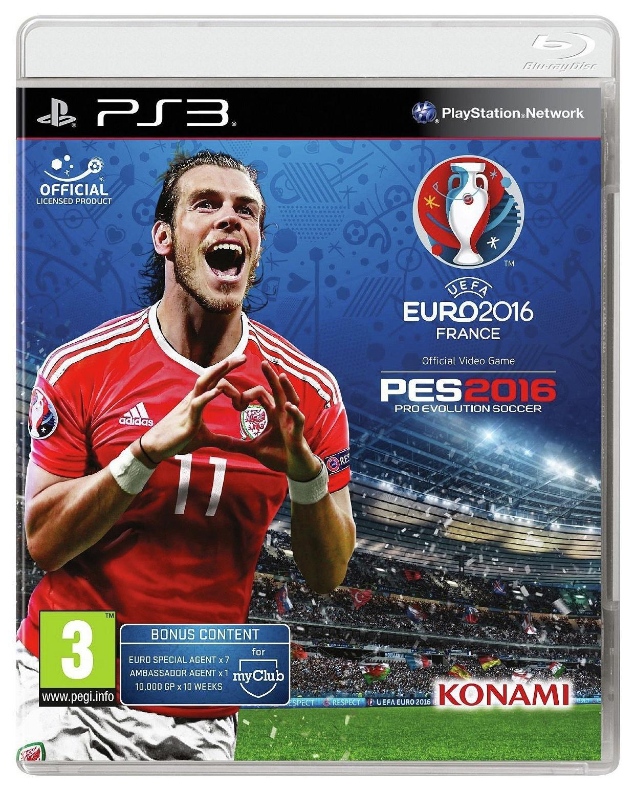 Pes 2016 Pro Evolution Soccer Euro 2016 PS3 Game.