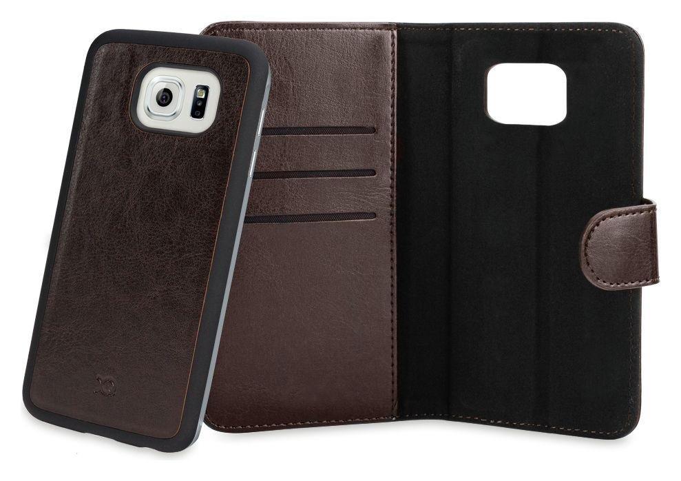 Xqisit Xqisit Wallet Case Eman for Samsung Galaxy S6 Edge - Brown