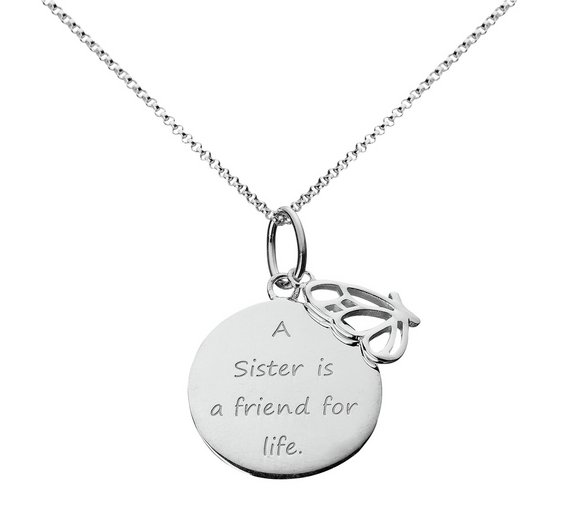 Buy moon back from the heart sterling silver sister pendant moon back from the heart sterling silver sister pendant aloadofball Choice Image