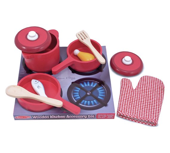 Kitchen Set Online Shopping: Buy Melissa And Doug Wooden Kitchen Accessory Set At Argos