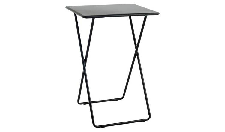 Habitat Airo Metal Folding Table - Black