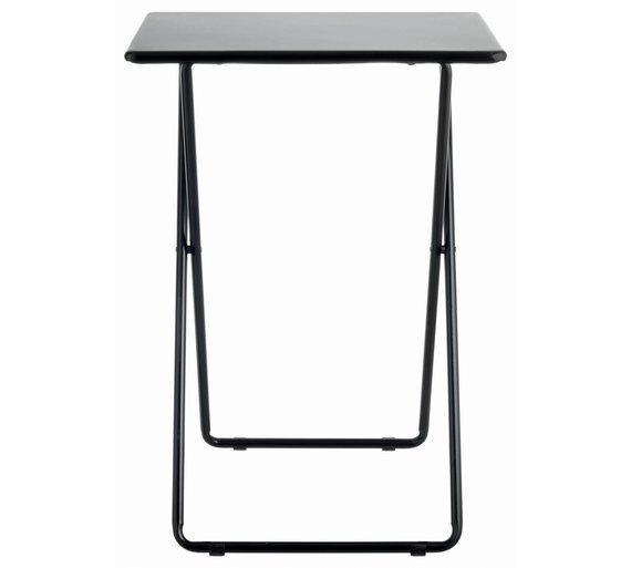 Buy Habitat Airo Metal Folding Table Black At Argos Co