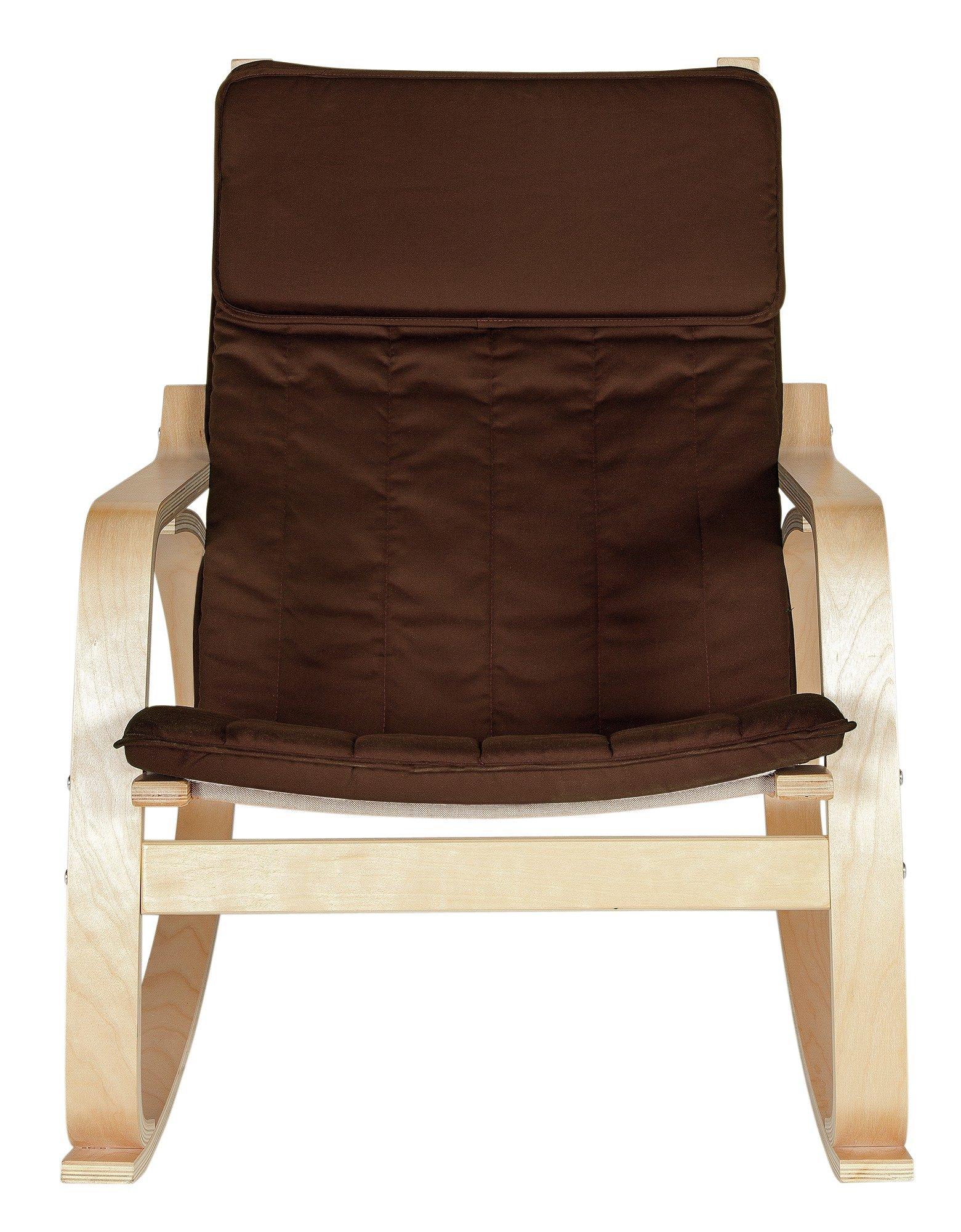 Home Fabric Rocking Chair Chocolate