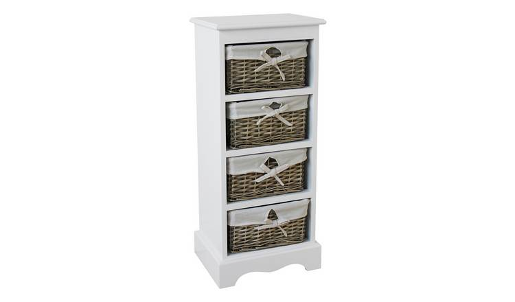 Argos Home New Malvern 4 Drawer Storage Unit - White