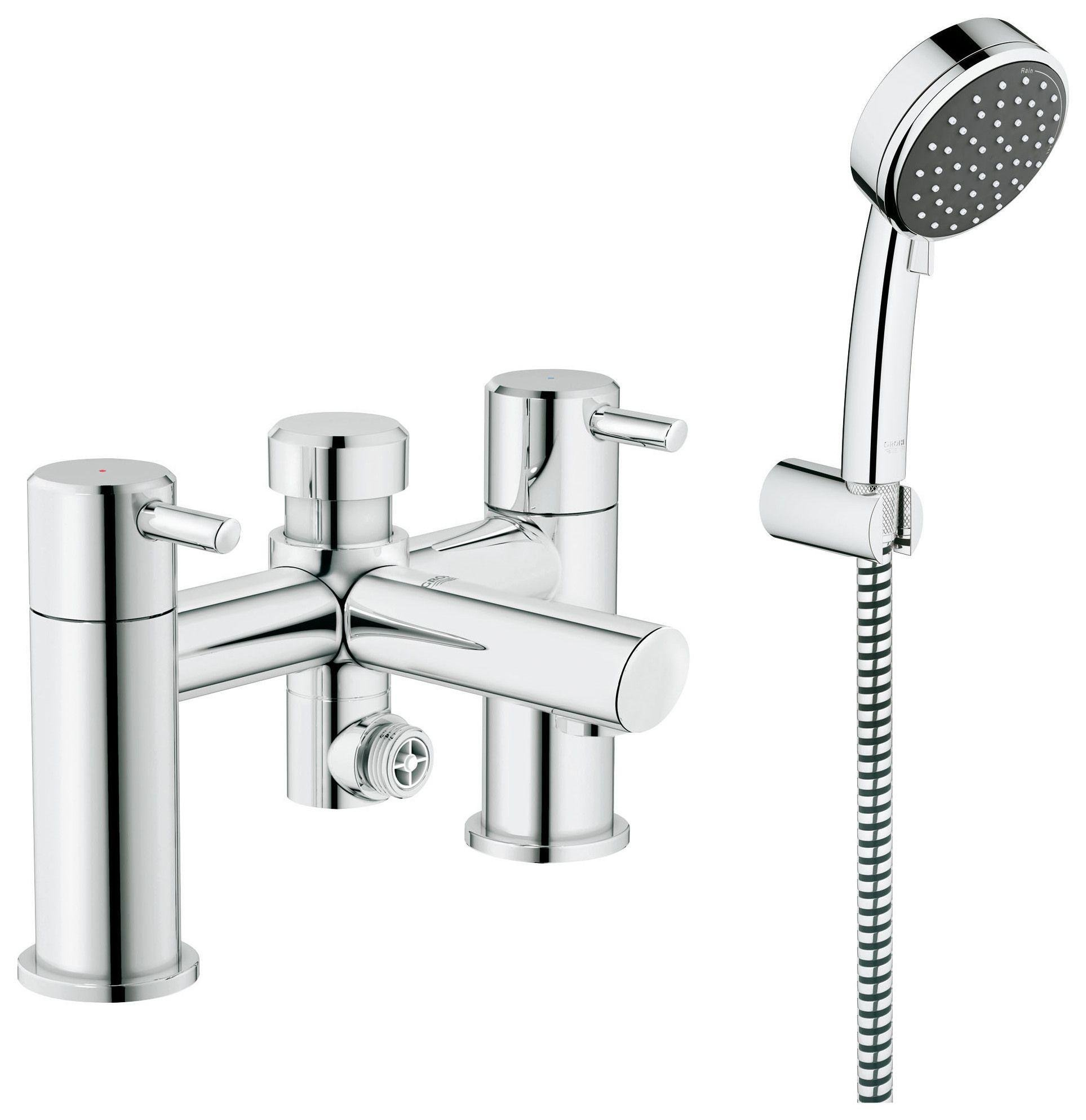 grohe grohtherm 1000 thermostatic bath shower mixer product close