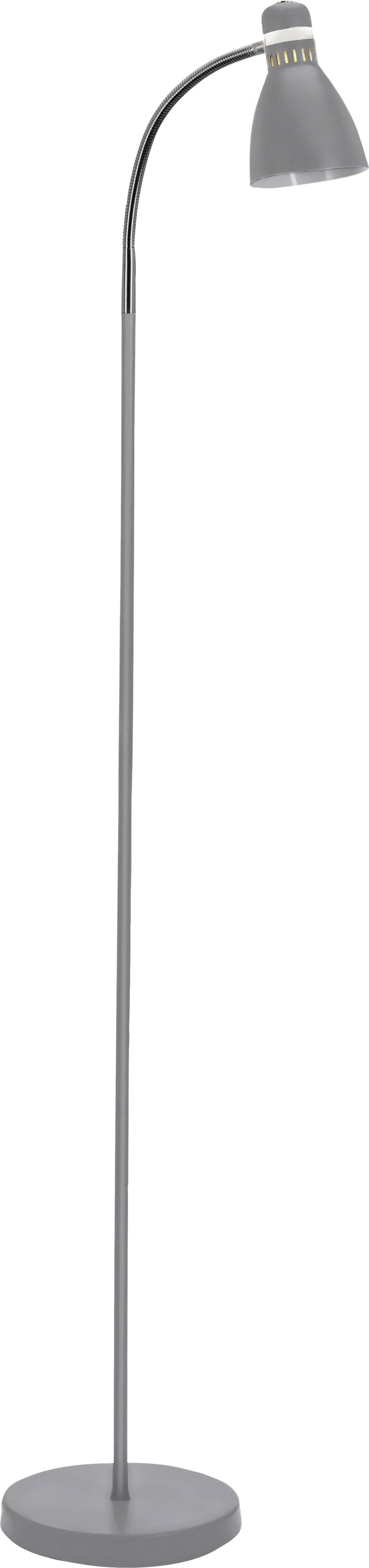 colourmatch dent desk style floor lamp  flint grey.