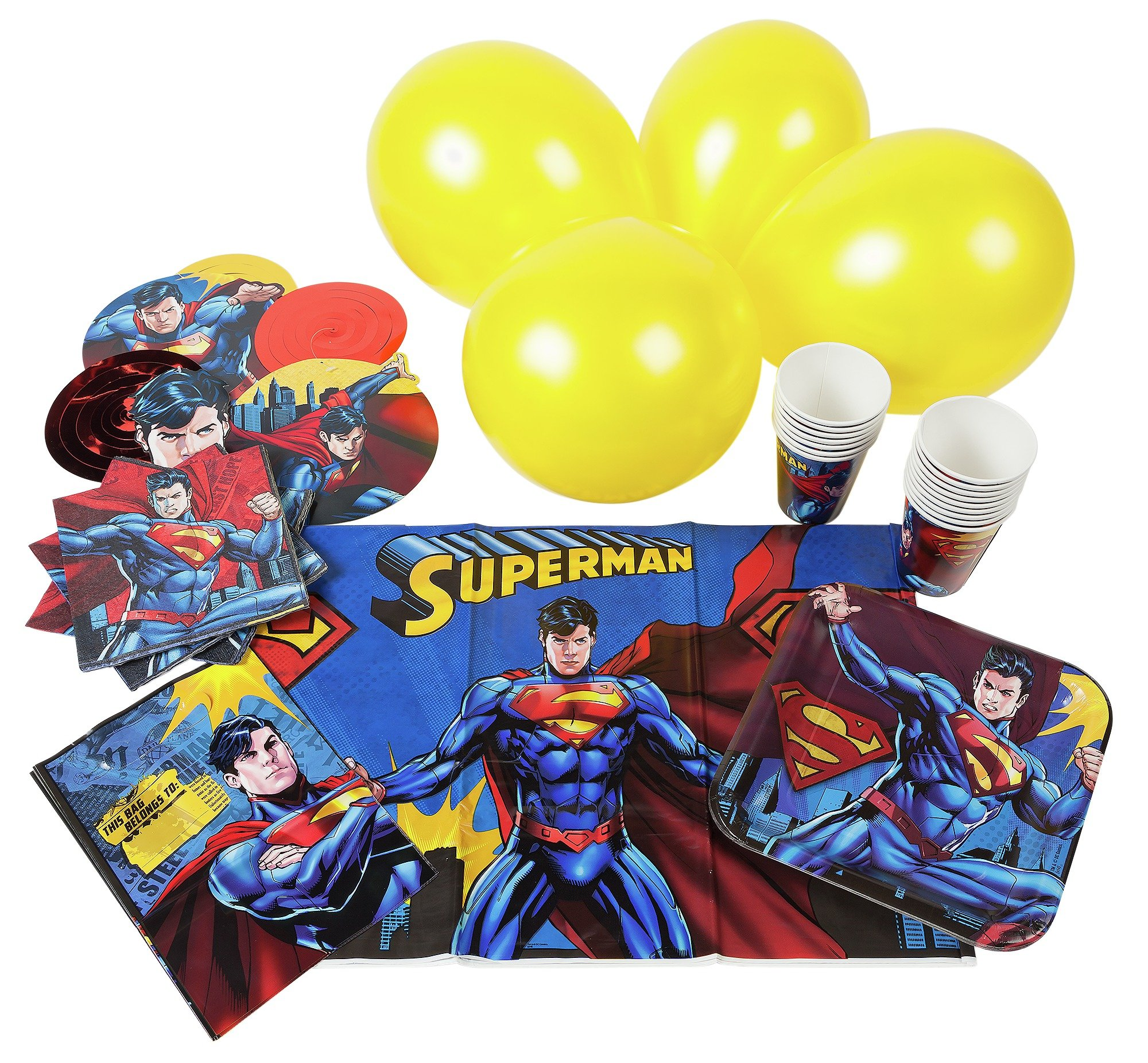 Image of Superman Party Pack for 16 Guests.