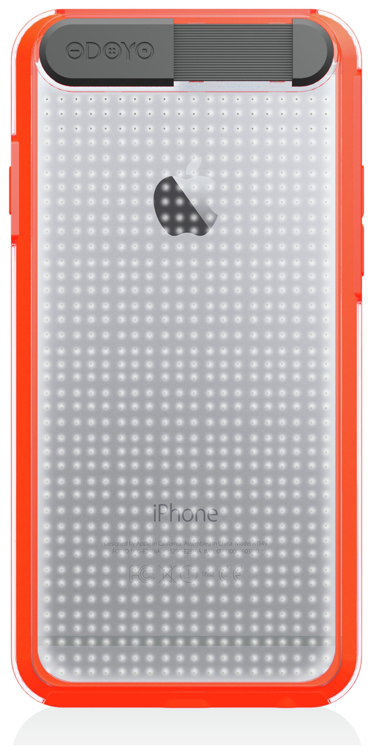 Odoyo Odoyo Flashing Case for iPhone 6 - Sunrise Orange