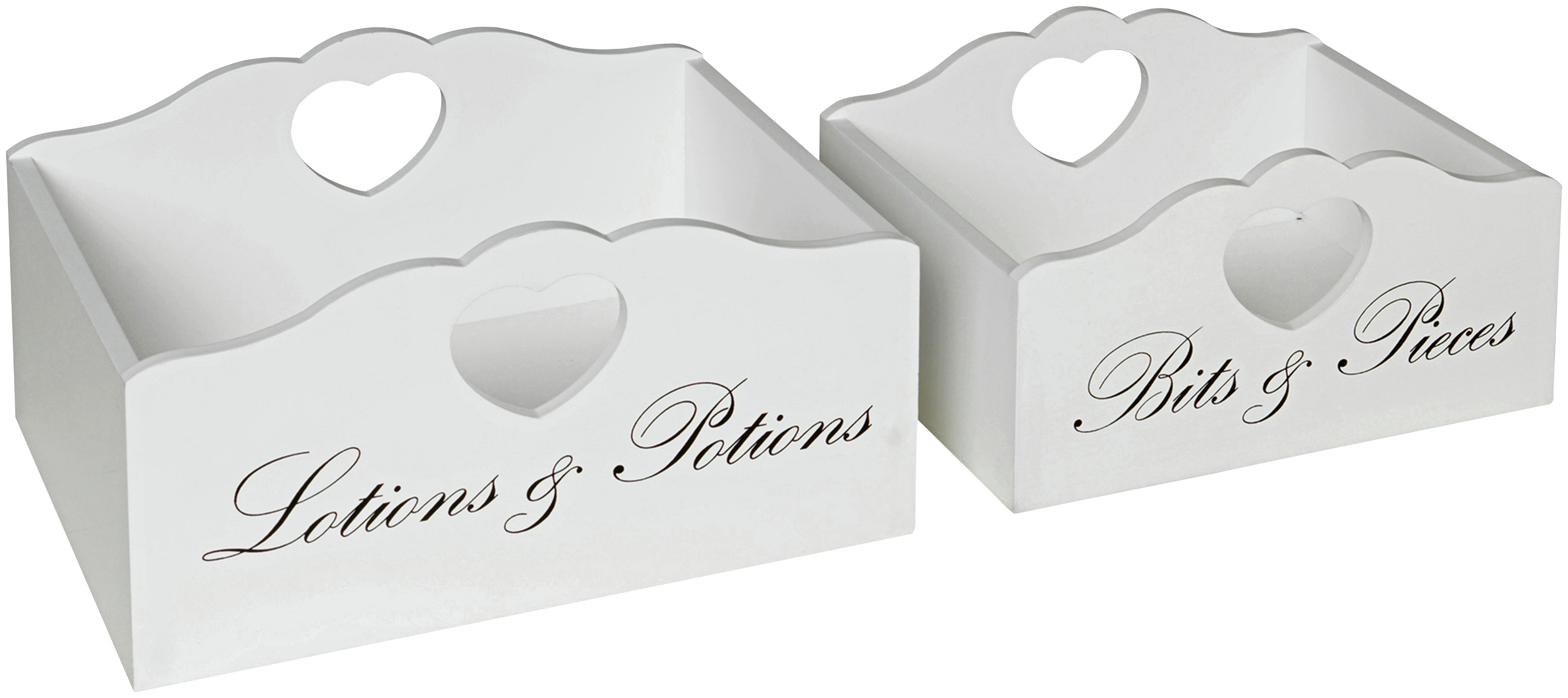 Heart of House Clarisse Script Set of 2 Storage Boxes