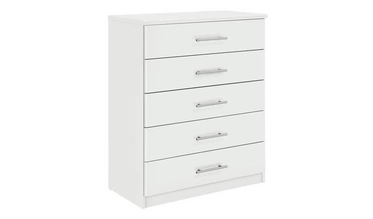 Argos Home Normandy 5 Drawer Chest of Drawers - White