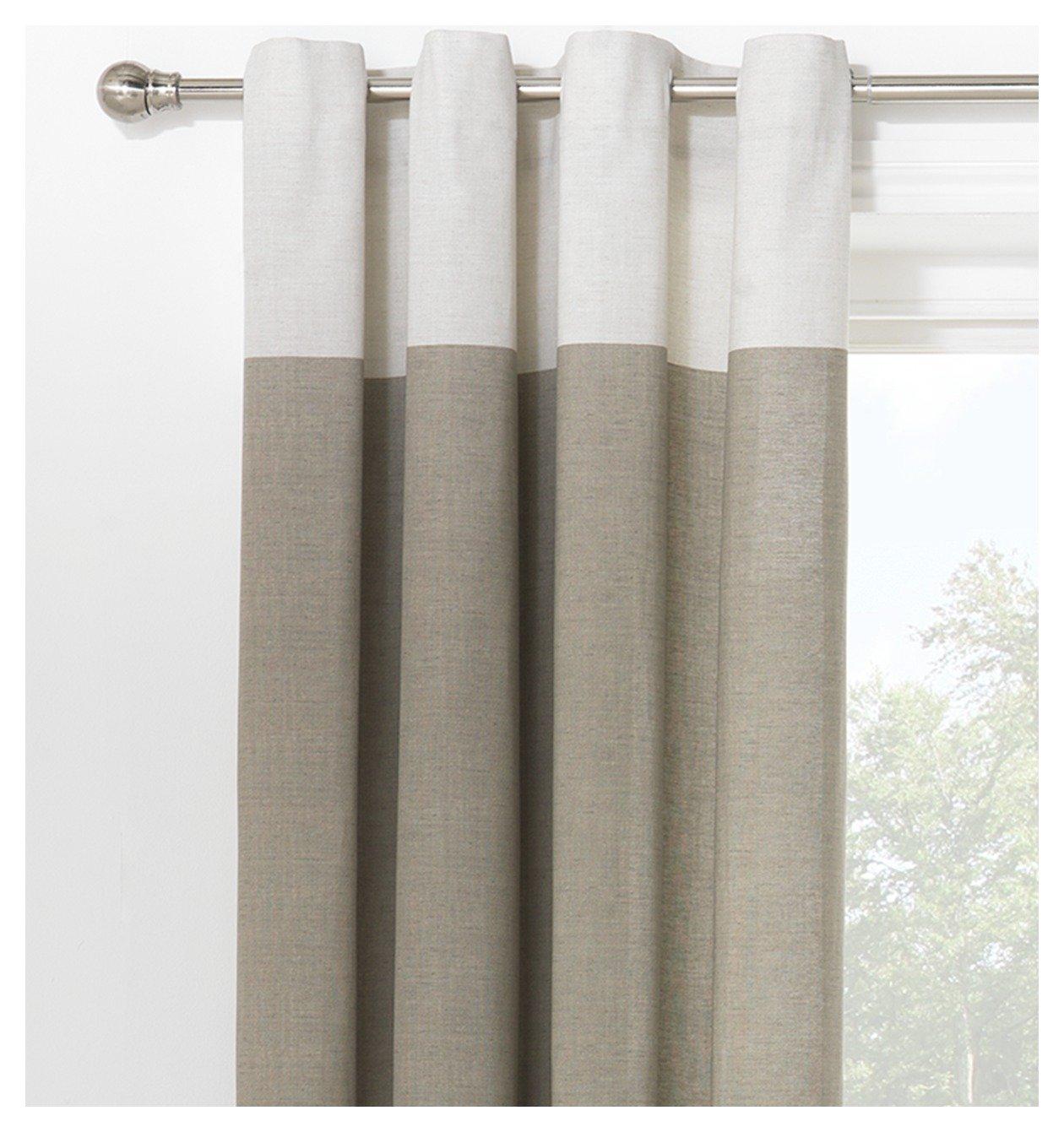 Argos Home Dublin Unlined Eyelet Curtains 168x183cm