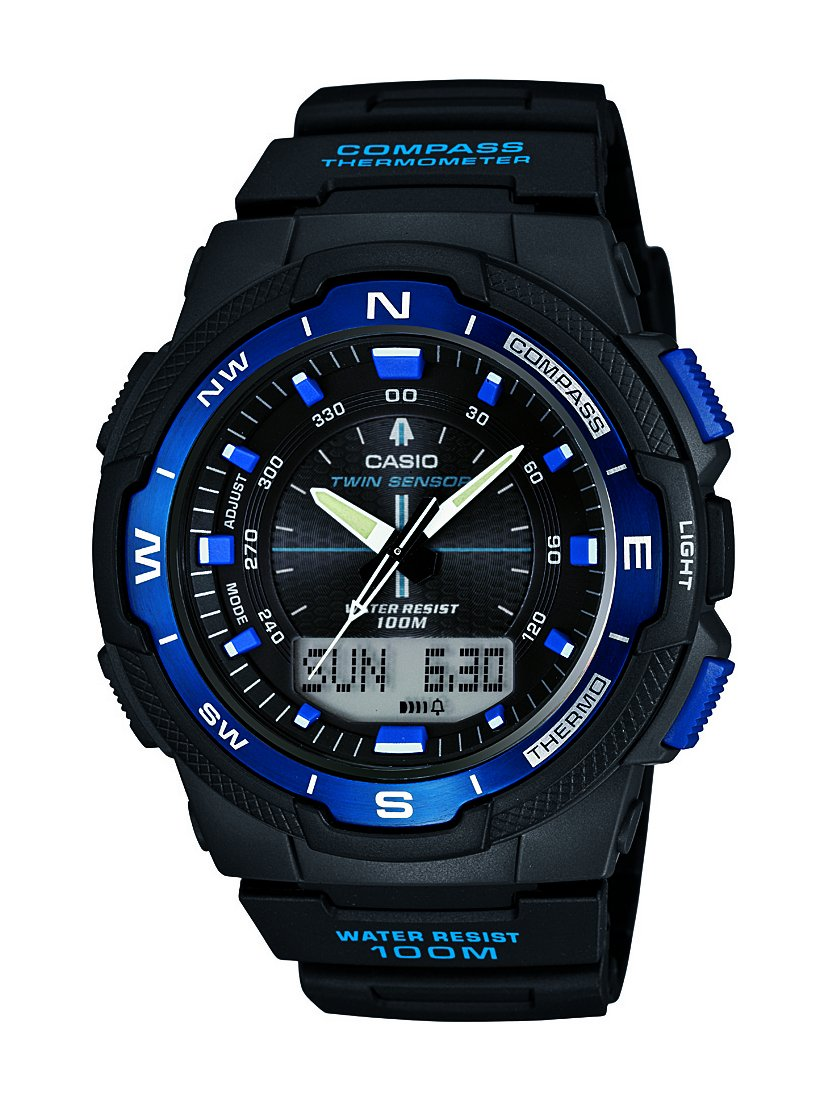 Casio Men's Black Resin Strap Sports Combi Watch