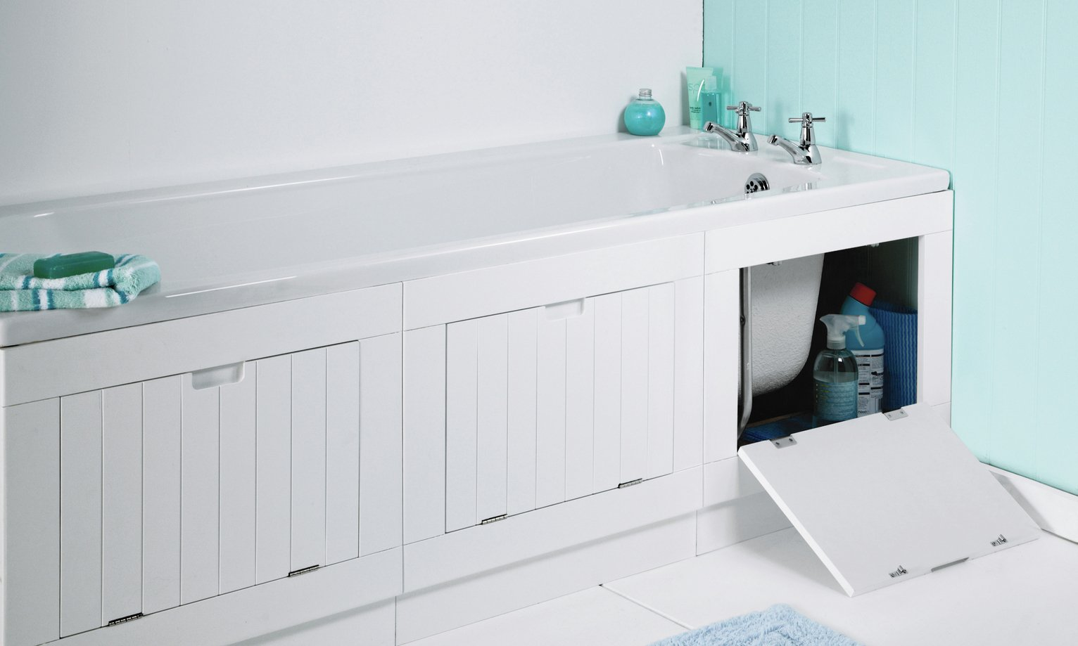 Image of Lavari Hideaway Bath Panel - Matt White
