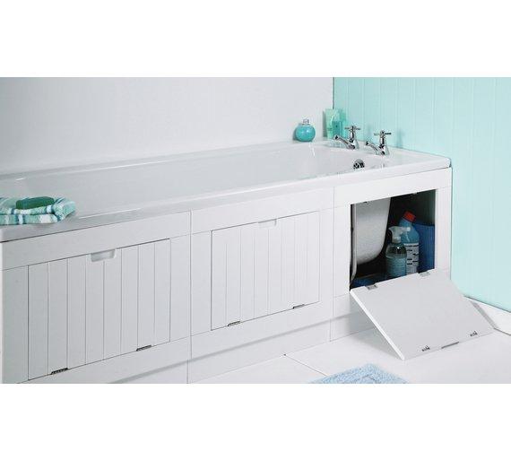 Buy HOME Hideaway Bath Panel - Matt White at Argos.co.uk - Your ...
