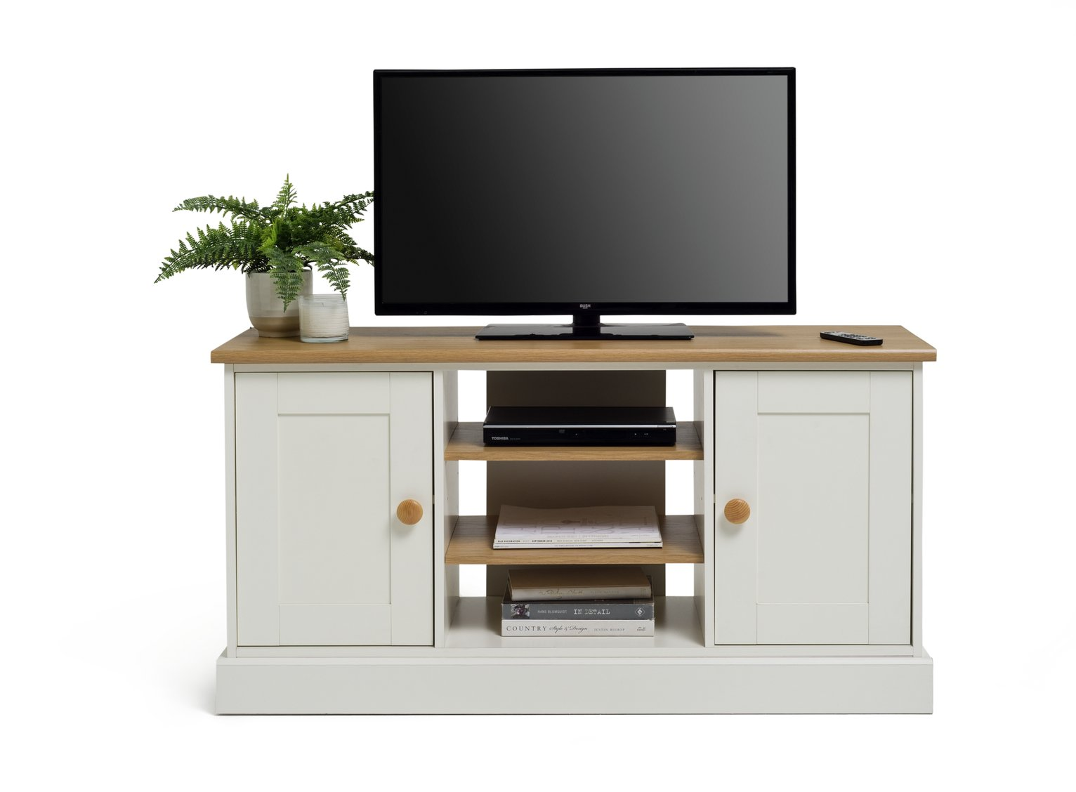 Buy Collection Winchester Tall Sideboard TV Unit Soft White Oak at Argos co uk Your Online