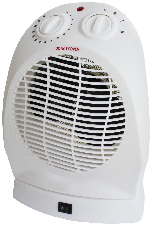 Challenge 2.4kW Upright Oscillating Fan Heater
