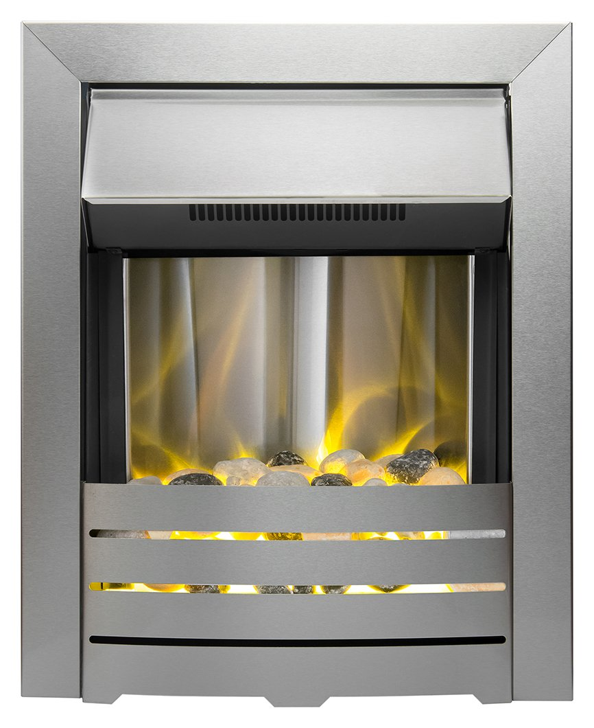 Image of Adam - Helios 2kW - Electric Inset Fire - Brushed Steel