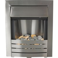 Adam - Helios 2kW - Electric Inset Fire - Brushed Steel