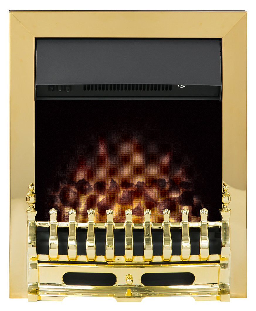 Adam Blenheim 2kW Electric Inset Fire - Brass