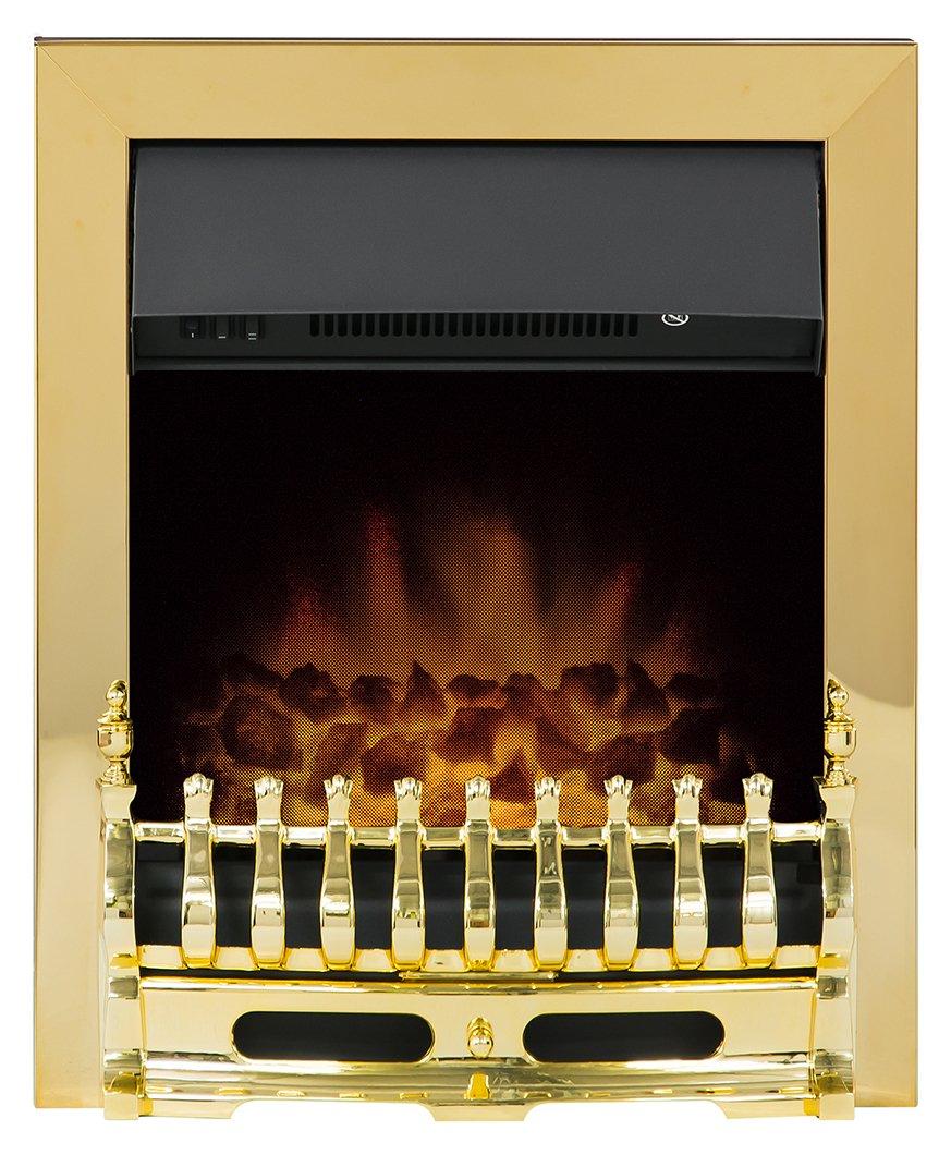 Image of Adam - Blenheim 2kW - Electric Inset Fire - Brass