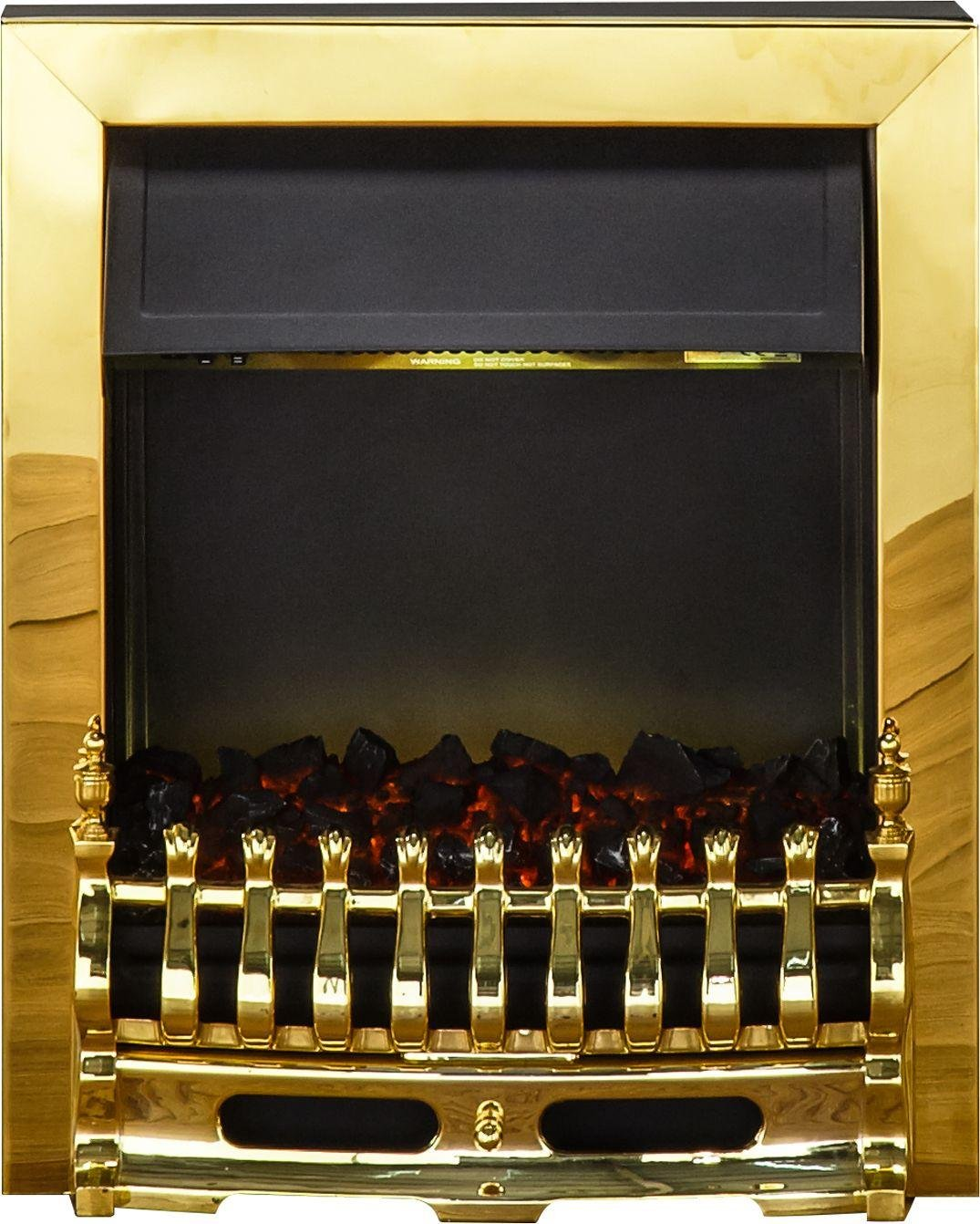 Image of Adam - Blenheim 2kW - Electric Inset Fire - Brass