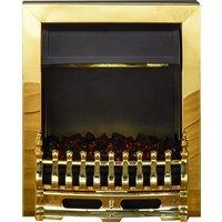 Adam - Blenheim 2kW - Electric Inset Fire - Brass