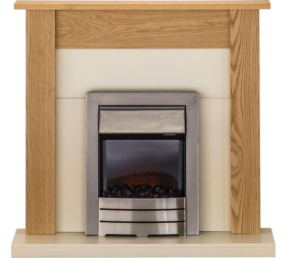 buy adam southwold 2kw electric fireplace suite oak. Black Bedroom Furniture Sets. Home Design Ideas