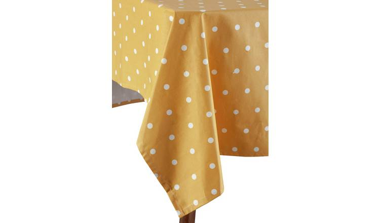 Argos Home Wipe Clean Table Cloth - Mustard Spots