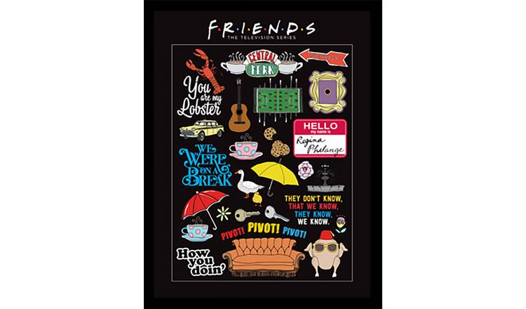 Friends Inforgraphic Framed Print