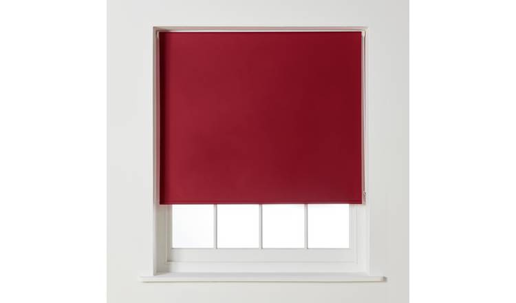 Argos Home Blackout Roller Blind - 2ft - Berry