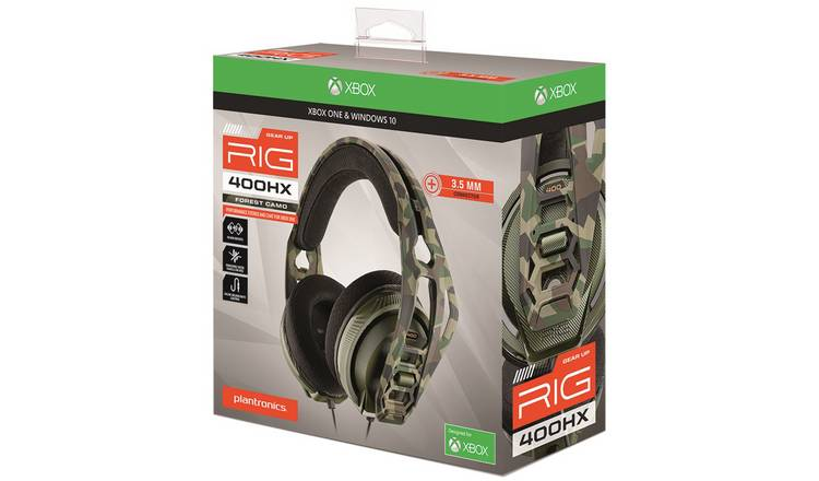 Buy Plantronics RIG 400HX Xbox One Headset Forest Camo | Gaming headsets | Argos