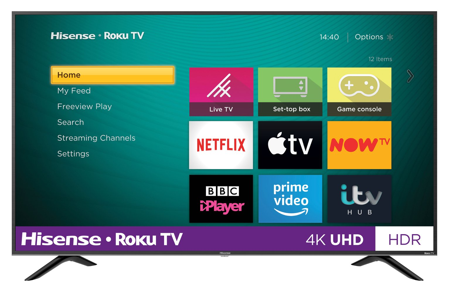 Hisense Roku 55 Inch R55B7120UK 4K Smart HDR LED Freeview TV