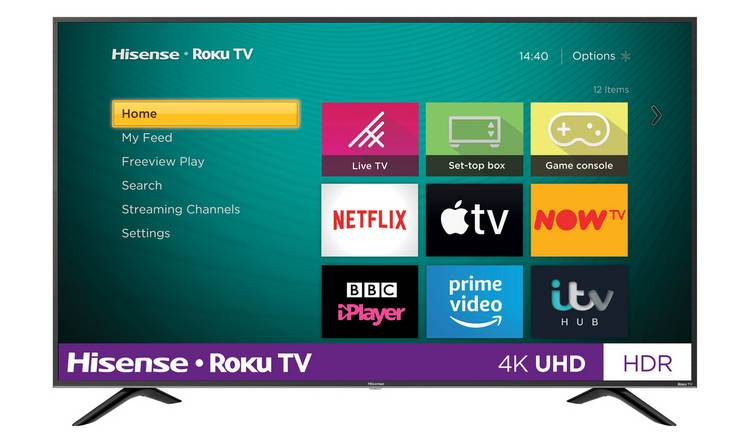 Hisense Roku TV 43 Inch R43B7120UK 4K Smart LED TV with HDR