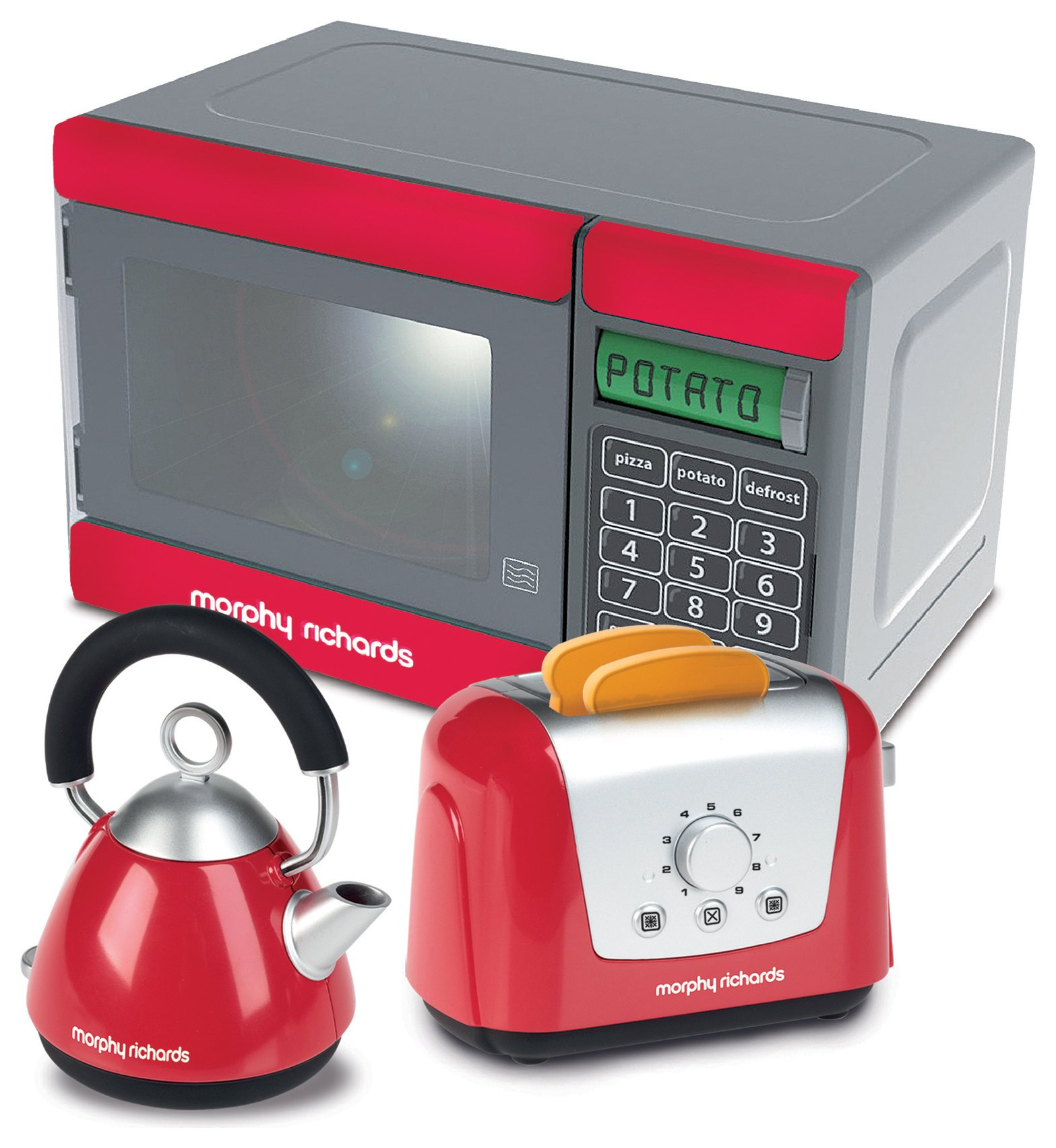 'Casdon Morphy Richards Toy Microwave/kettle And Toaster.