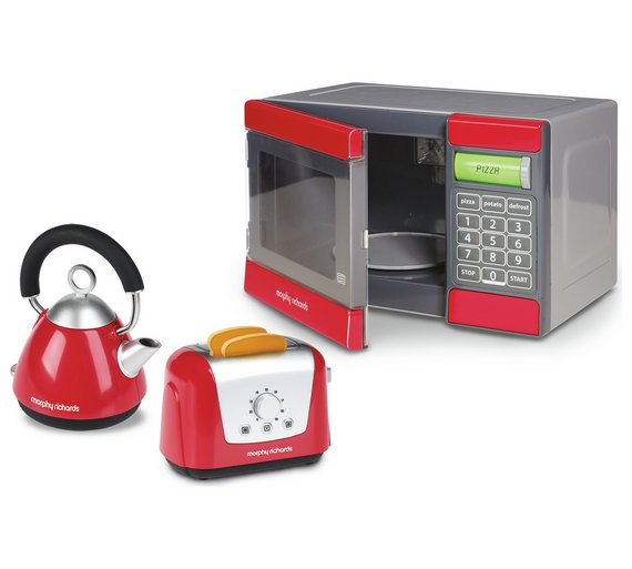 buy casdon morphy richards toy microwave kettle and. Black Bedroom Furniture Sets. Home Design Ideas